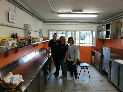Volontari in cucina